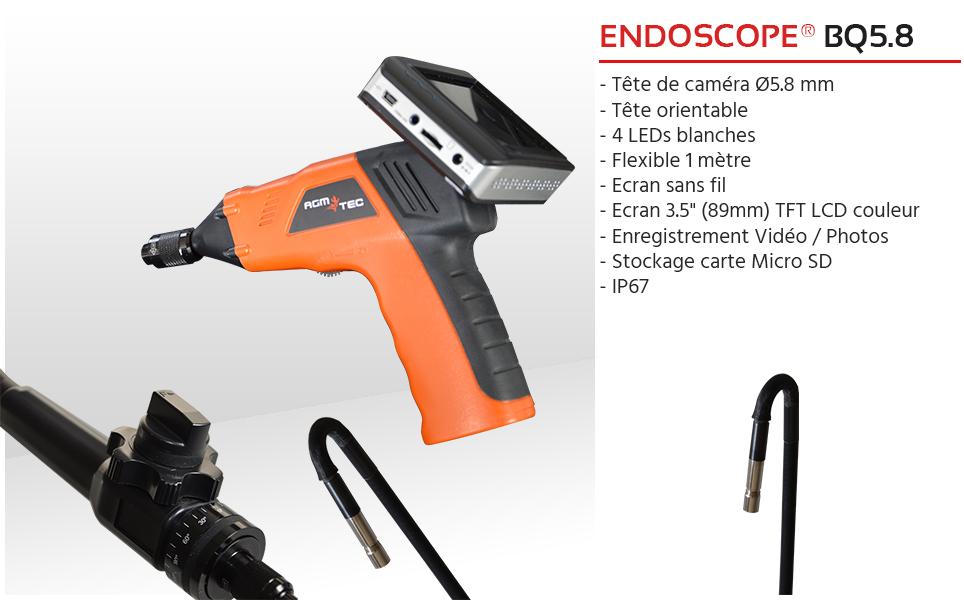 endoscope tete rotative